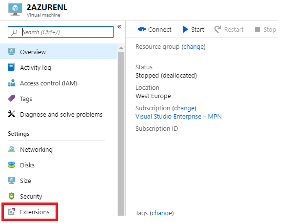 Disable Windows Firewall on a virtual machine from the Azure