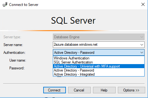 Azure SQL configure Azure AD user authentication (Manual